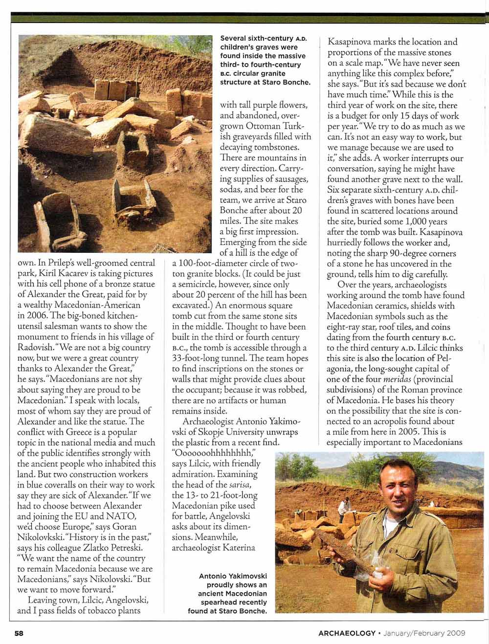 Macedonia - Archaeology magazine